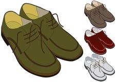 Schoenen in verschillende kleur royalty-vrije illustratie