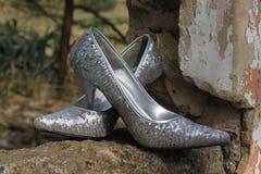 Schoenen voor een speciale dame Stock Afbeelding