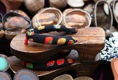 Schoenen voor verkoop Stock Foto's