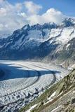 Schoenenbuelhorn (3854m) and Wannenhorn (3906m) stock image