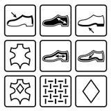 Schoeneneigenschappen symbolen Royalty-vrije Stock Afbeelding