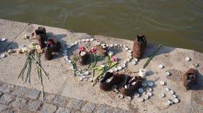 Schoenengedenkteken, Boedapest stock fotografie