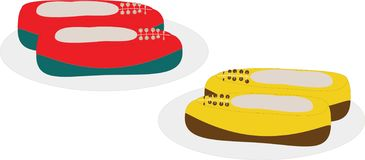 Schoenenillustratie op witte achtergrond royalty-vrije stock afbeeldingen