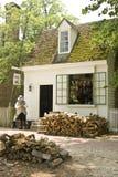 Schoenmaker in Koloniale Williamsburg Royalty-vrije Stock Fotografie
