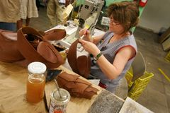 Schoenmakersatelier royalty-vrije stock foto