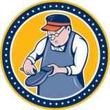 Schoenmakersschoenmaker Circle Cartoon Royalty-vrije Stock Fotografie