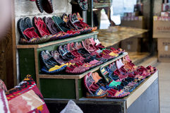 Schoenopslag van Istanboel Stock Foto's
