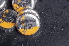 Schofferhofer啤酒瓶盖  免版税图库摄影