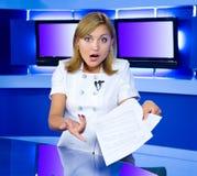 Schokierende Nachrichten Lizenzfreies Stockfoto