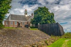 Schokland наследие ЮНЕСКО в нидерландском польдере стоковые изображения