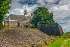Schokland een Unesco-erfenis in de polder van Nederland stock afbeeldingen