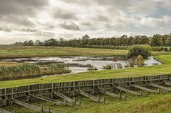 Island, polder and wetlands stock photos