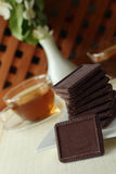 Schokolade ??????? zum Tee Lizenzfreies Stockbild