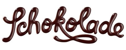 Schokolade stock photography