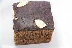 Schokolade auf einem Kuchen Lizenzfreies Stockfoto