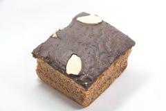 Schokolade auf einem Kuchen Stockfotografie
