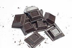 Schokolade auf einem weißen Hintergrund Lizenzfreies Stockfoto