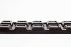 Schokolade auf einem weißen Hintergrund Stockbild