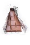 Schokolade auf weißem Hintergrund Lizenzfreie Stockfotos