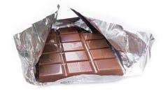 Schokolade auf weißem Hintergrund Stockbilder