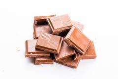 Schokolade auf weißem Hintergrund Stockfotografie