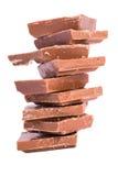 Schokolade auf weißem Hintergrund Lizenzfreies Stockfoto