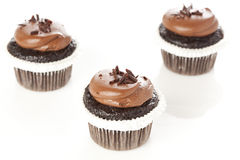 Schokolade bereifte kleinen Kuchen Stockbilder