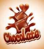 Schokolade bessert das Fallen in geschmolzenes choc aus stock abbildung