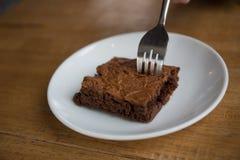 Schokolade Brownie Cake Stockbilder