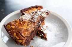 Schokolade Brownie Cake Stockbild