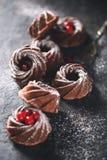 Schokolade Bundt-Kuchen lizenzfreie stockfotos