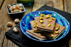 Schokolade burfi Indische Bonbons stockfotografie