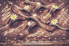 Schokolade Cack Hintergrund lizenzfreie stockbilder