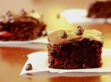 Schokolade Cherry Bars Lizenzfreies Stockfoto