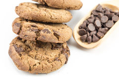 Schokolade Chip Cookie stockbilder