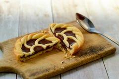 Schokolade crostata lizenzfreie stockbilder