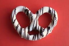 Schokolade deckte Brezel ab Stockfotografie