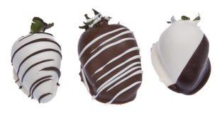 Schokolade deckte Erdbeeren ab stockfotos