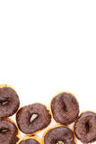 Schokolade deckte Krapfen ab Lizenzfreie Stockbilder