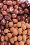 Schokolade deckte Muttern ab lizenzfreie stockfotografie
