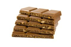 Schokolade in den Stäben Lizenzfreies Stockbild