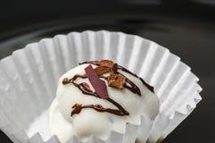 Schokolade der weißen Trüffel stockfotografie