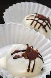 Schokolade der weißen Trüffel stockbild