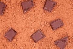 Schokolade, für Kakaohintergrund Lizenzfreie Stockbilder