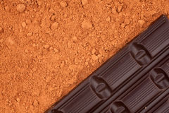 Schokolade, für Kakaohintergrund Stockbilder