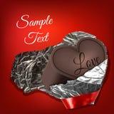Schokolade heart lizenzfreie stockfotografie