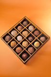 Schokolade im Kasten Stockbild