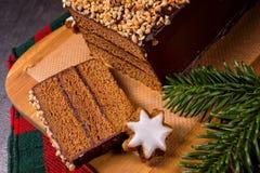Schokolade-Kirschlebkuchentorte Lizenzfreie Stockfotografie