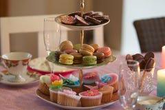 Schokolade kleine Kuchen Lizenzfreie Stockbilder