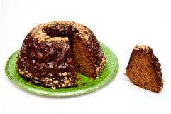 Schokolade Kuglof-Kuchen Stockfotografie